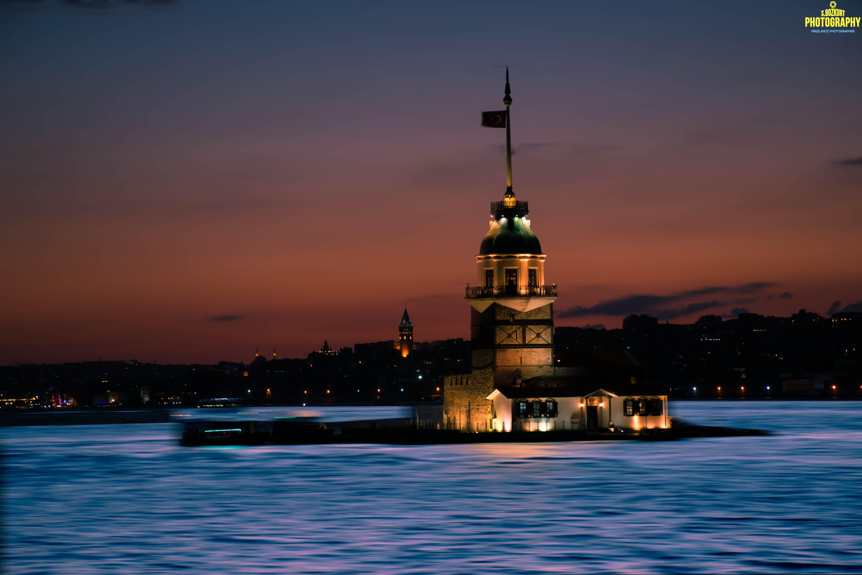 Kız Kulesi Mavi Gece