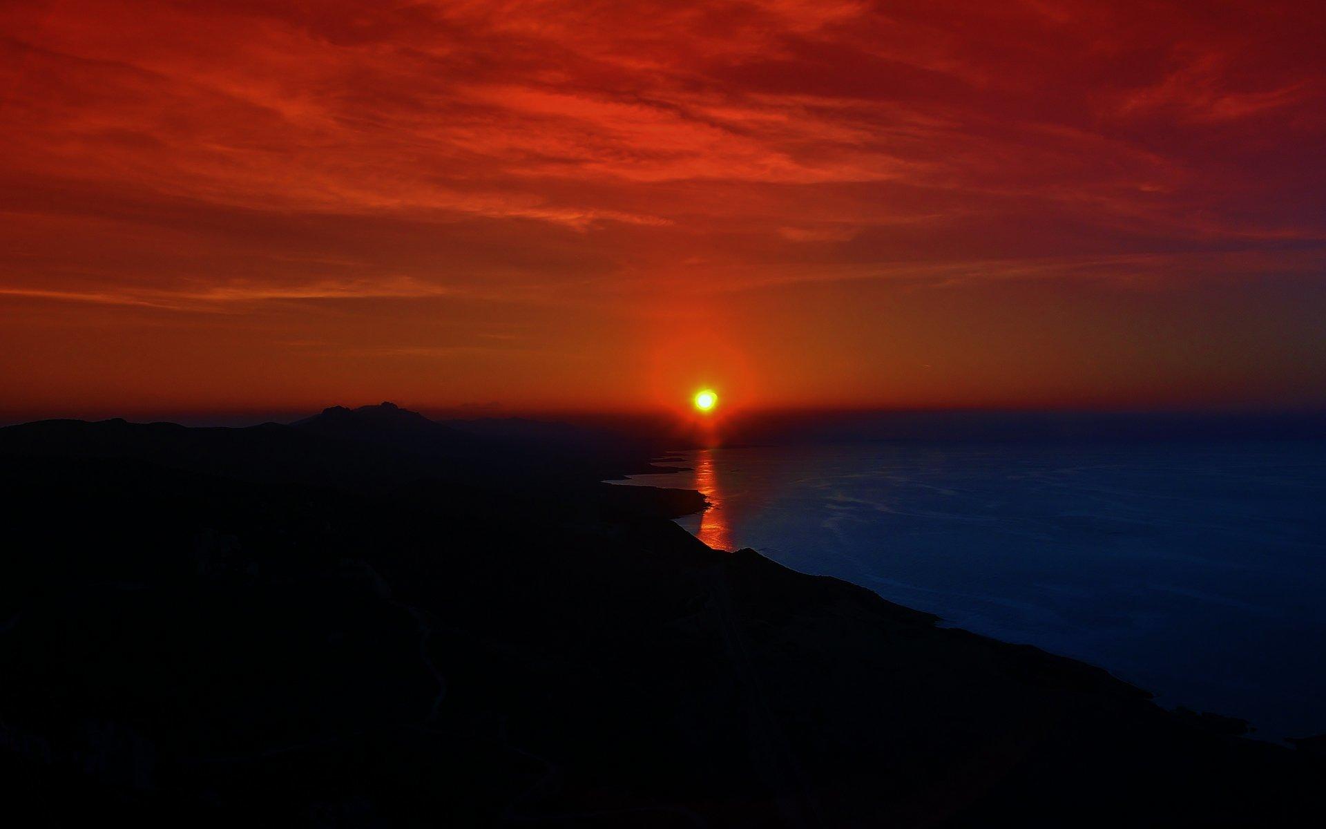 kantara kalesinden gün batımı