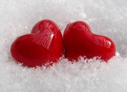 kar ve kalpler