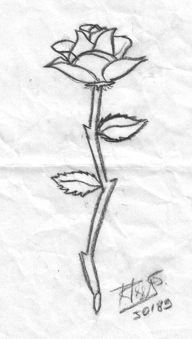 kara kalem çiçek resimi