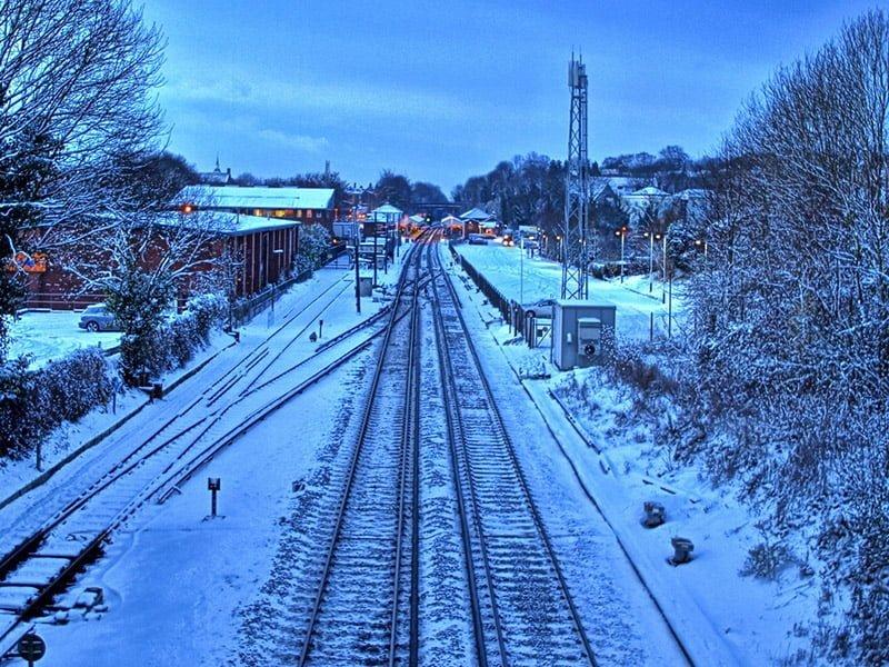 karda tren istasyonu