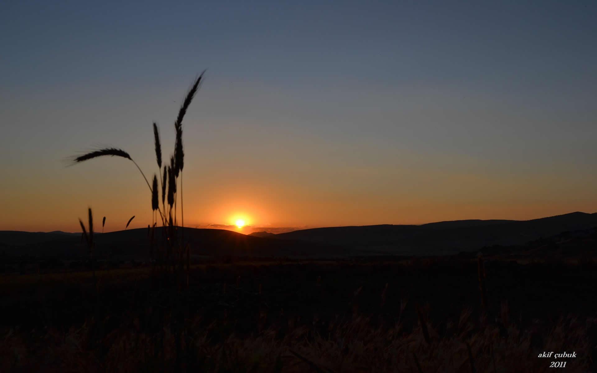 kemerkaya'da gün batımı