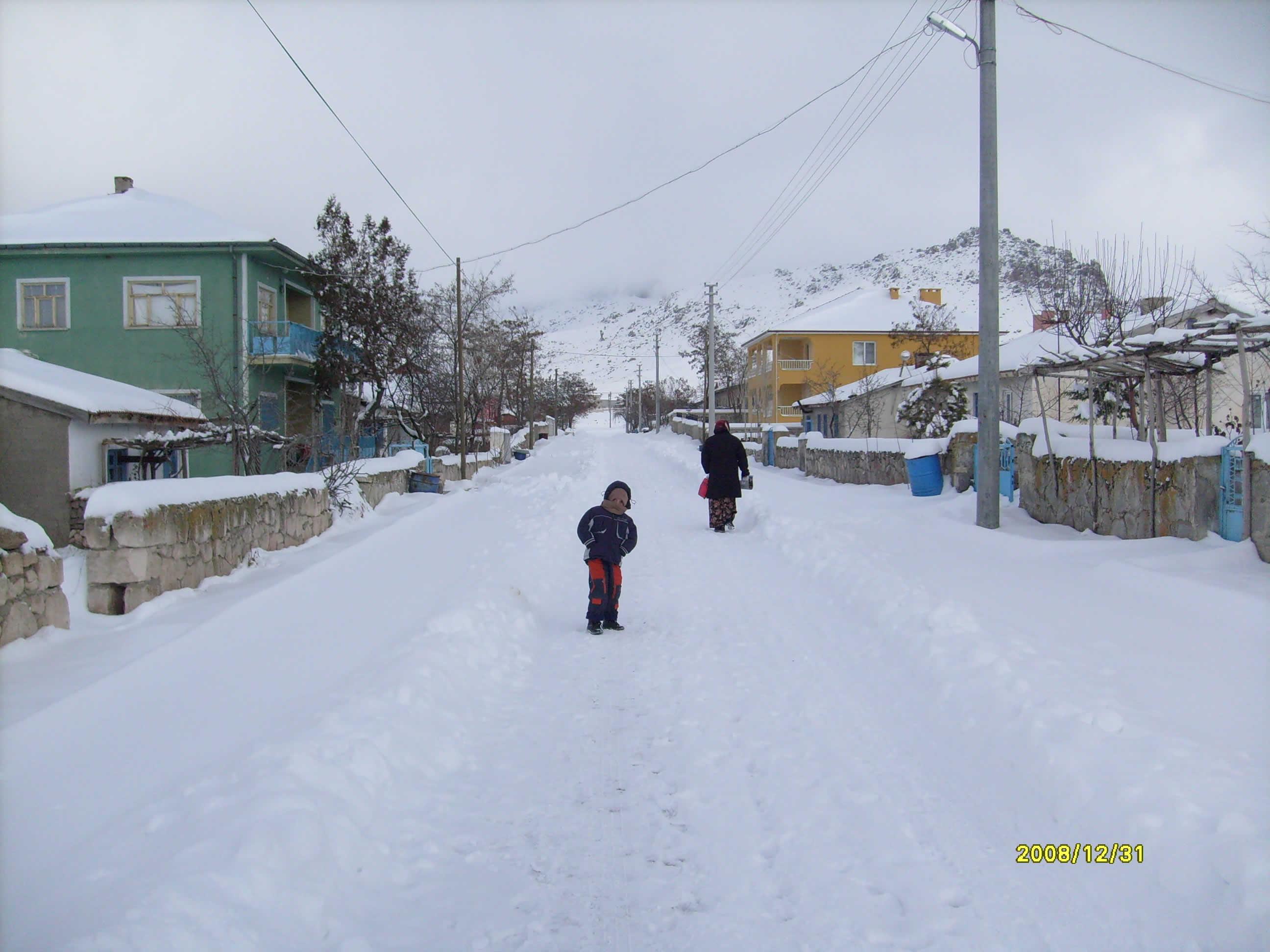 kemerkayada kış ve çocuk