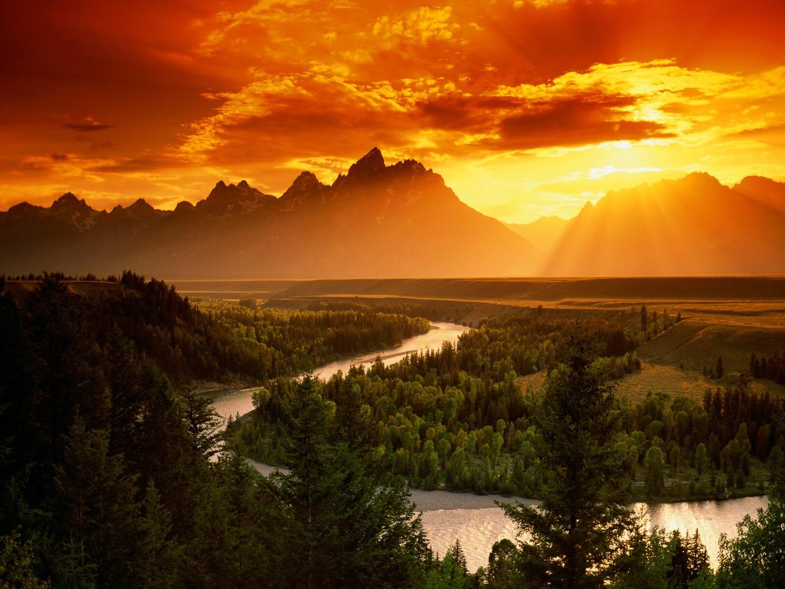 Snake River Gün Batımı