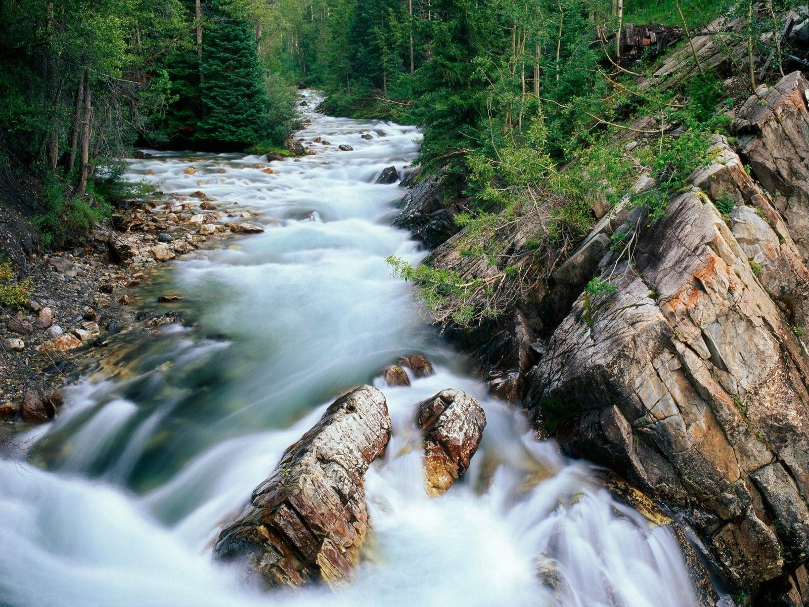 Kayalıklar Arasında Akan Su