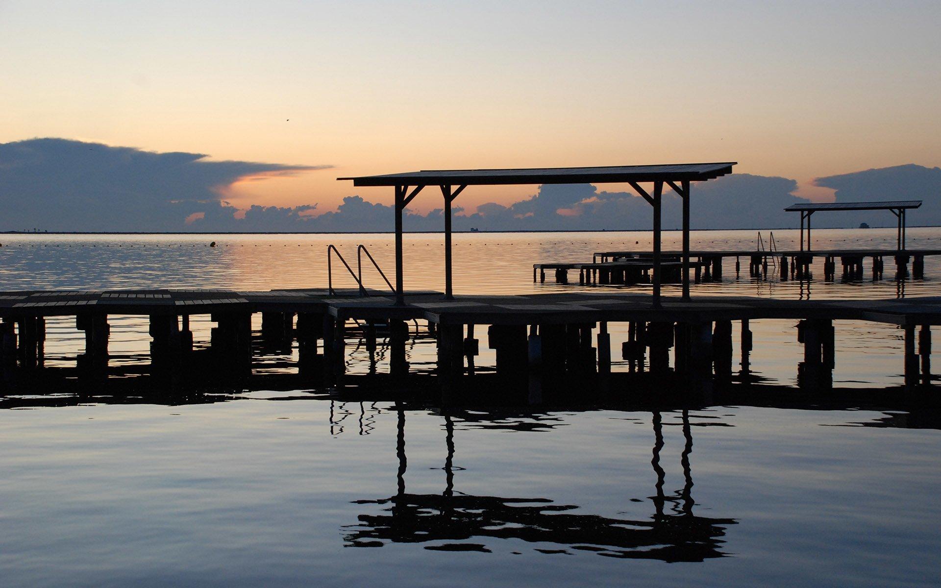 mar menor iskele ve gün batımı
