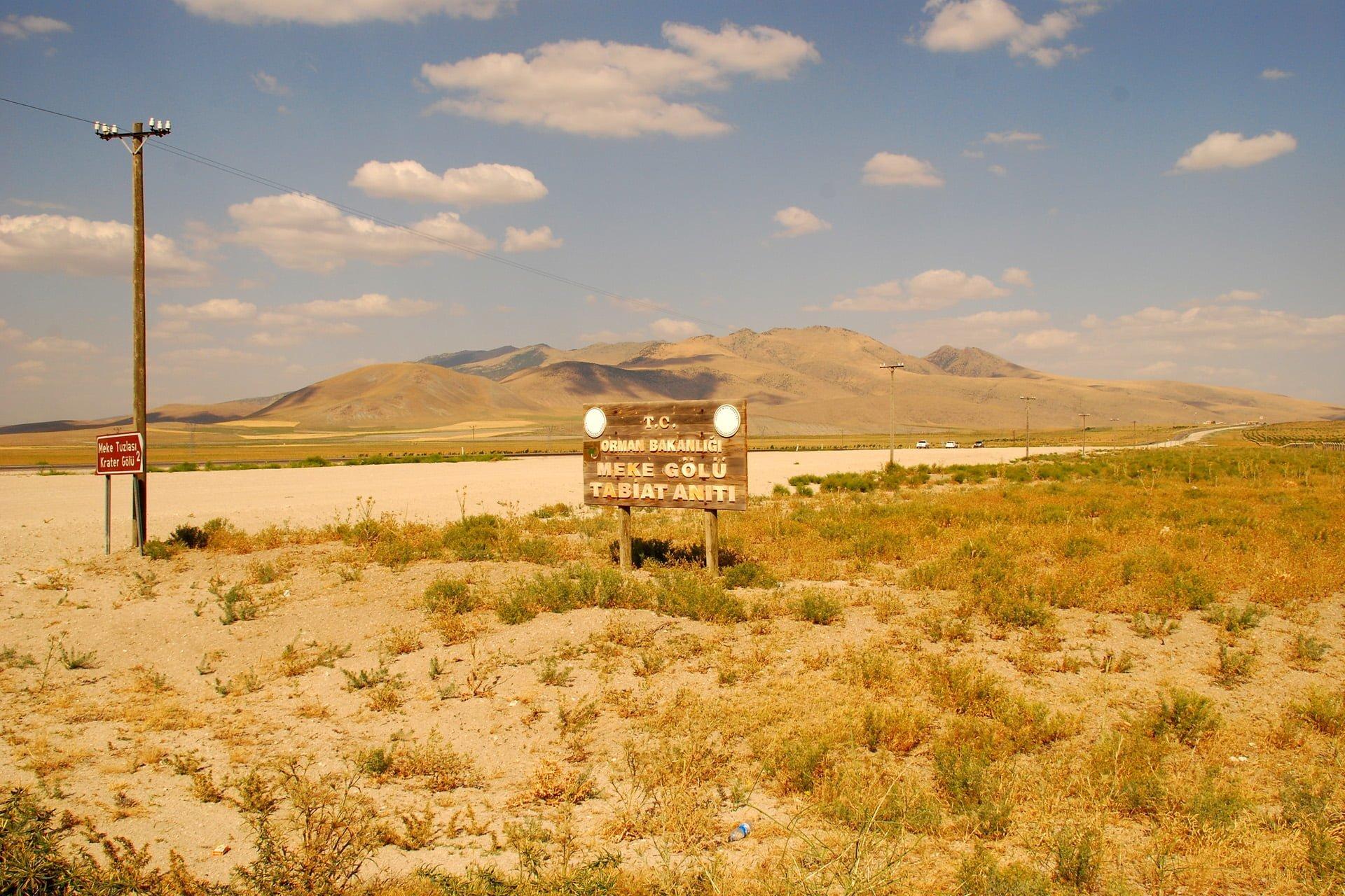 meke krater gölü yolu