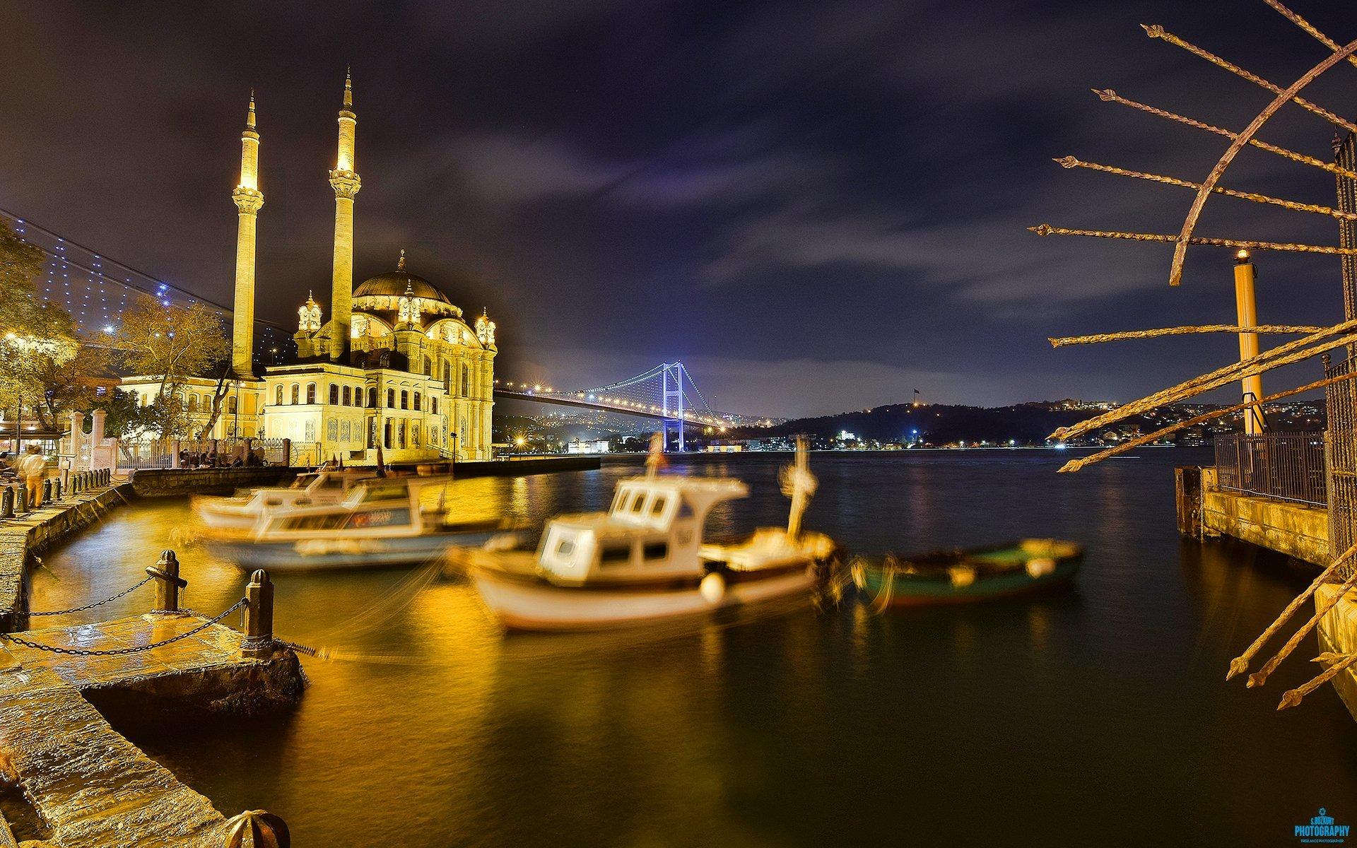 Ortaköy süper gece manzarası