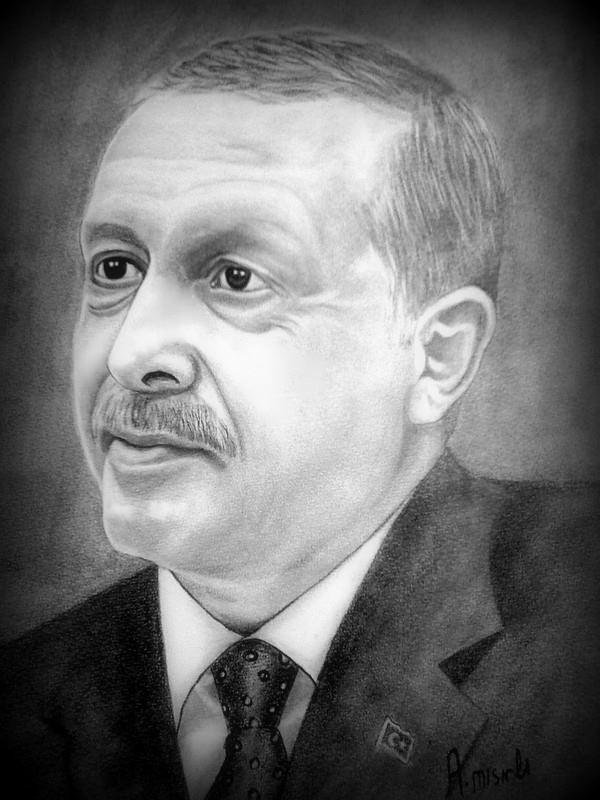 recep tayyip erdoğan karakalem