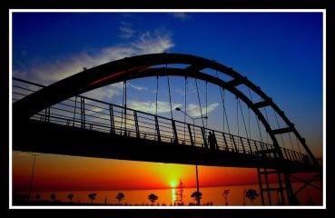 rize gün batımı ve köprü