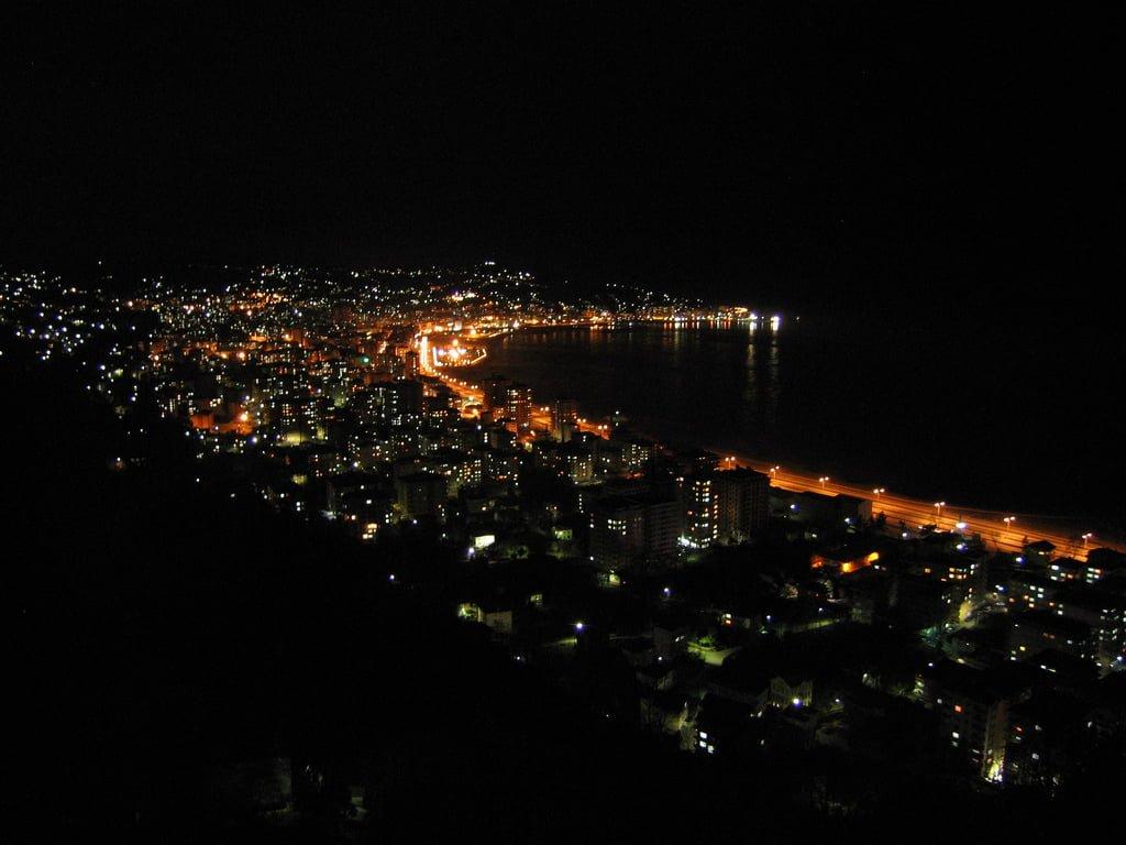 rize gece manzarası