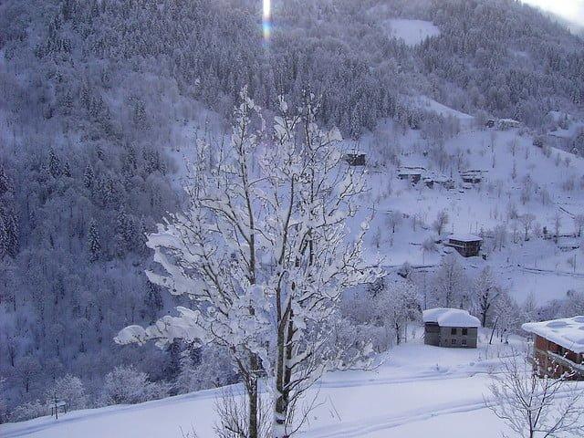 rize kar manzarası