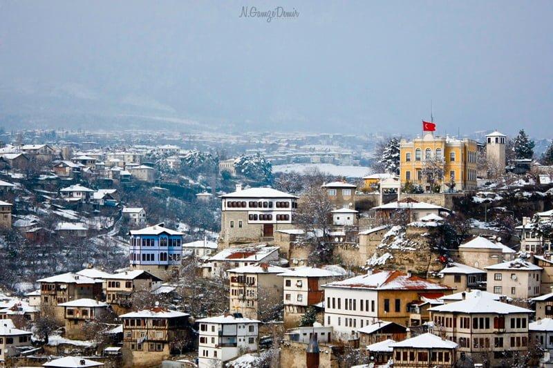 safranbolu kış günü