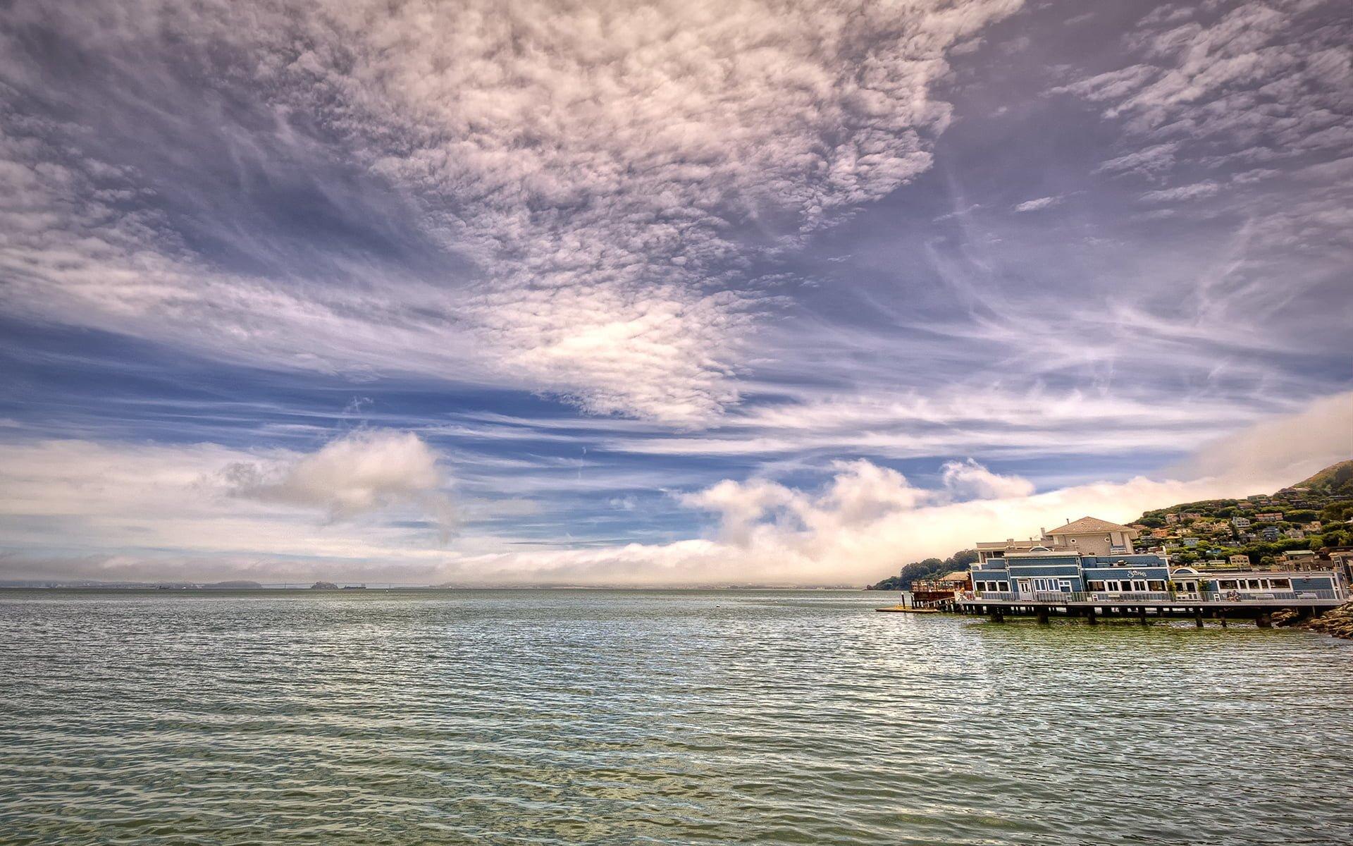 san francisco gökyüzü ve deniz