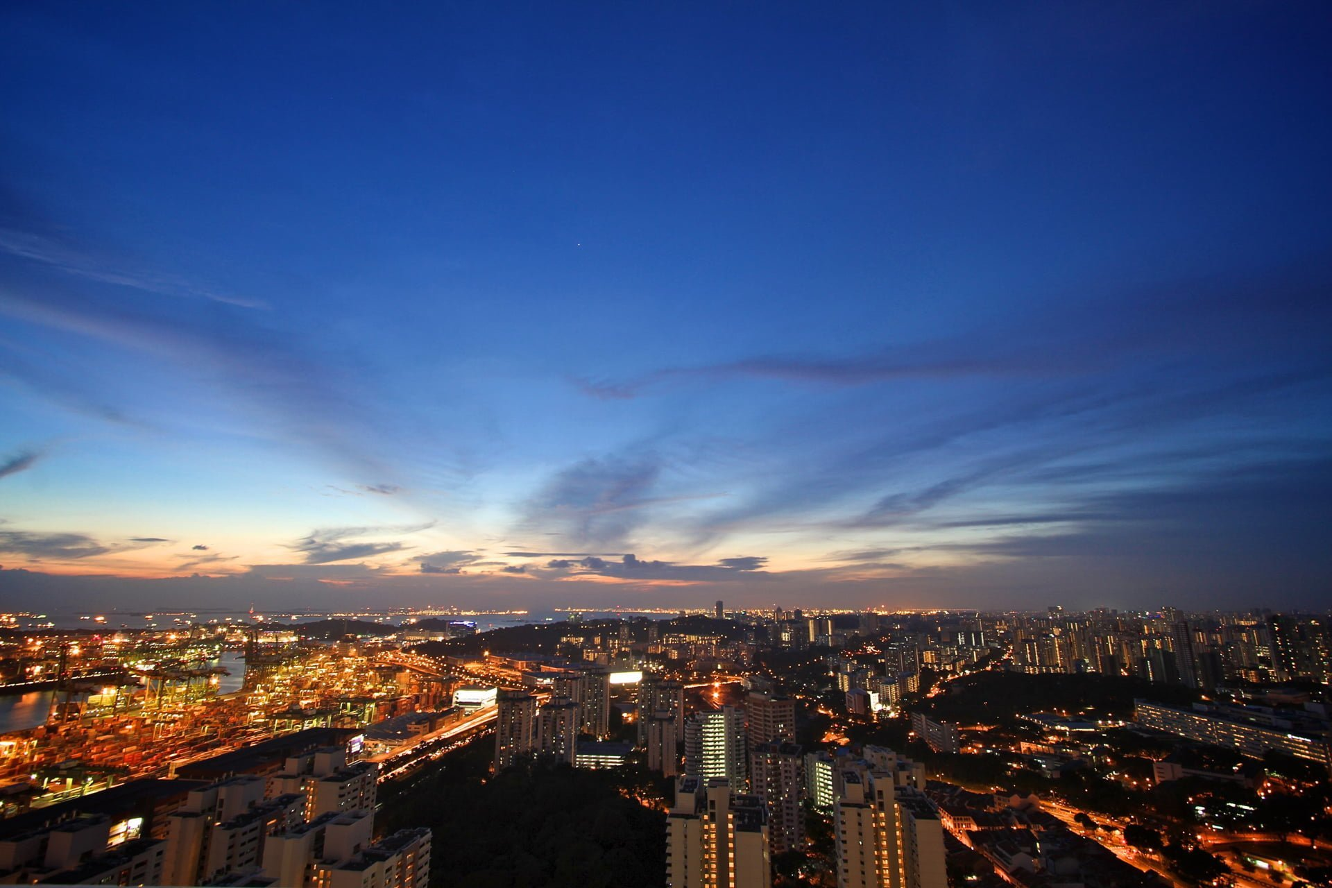singapur manzarası