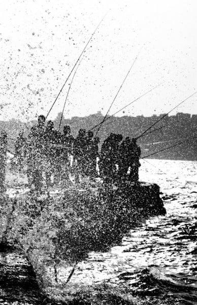 siyah beyaz balıkçılar
