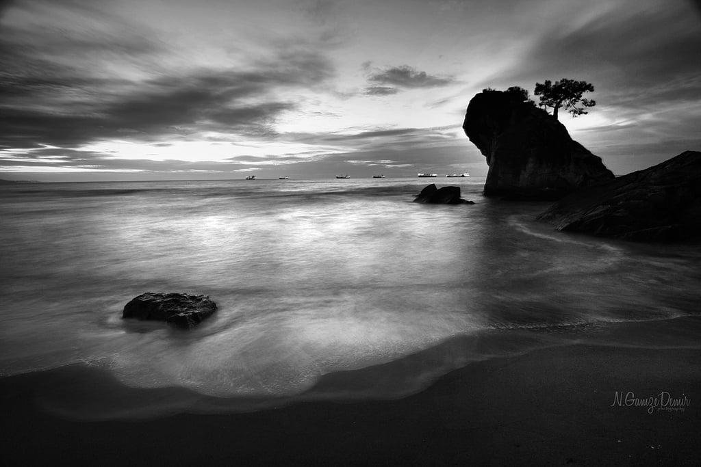 siyah beyaz deniz