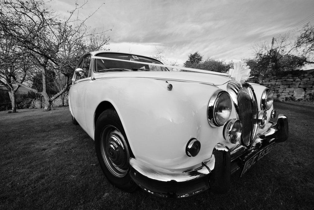 siyah beyaz nostaljik araba