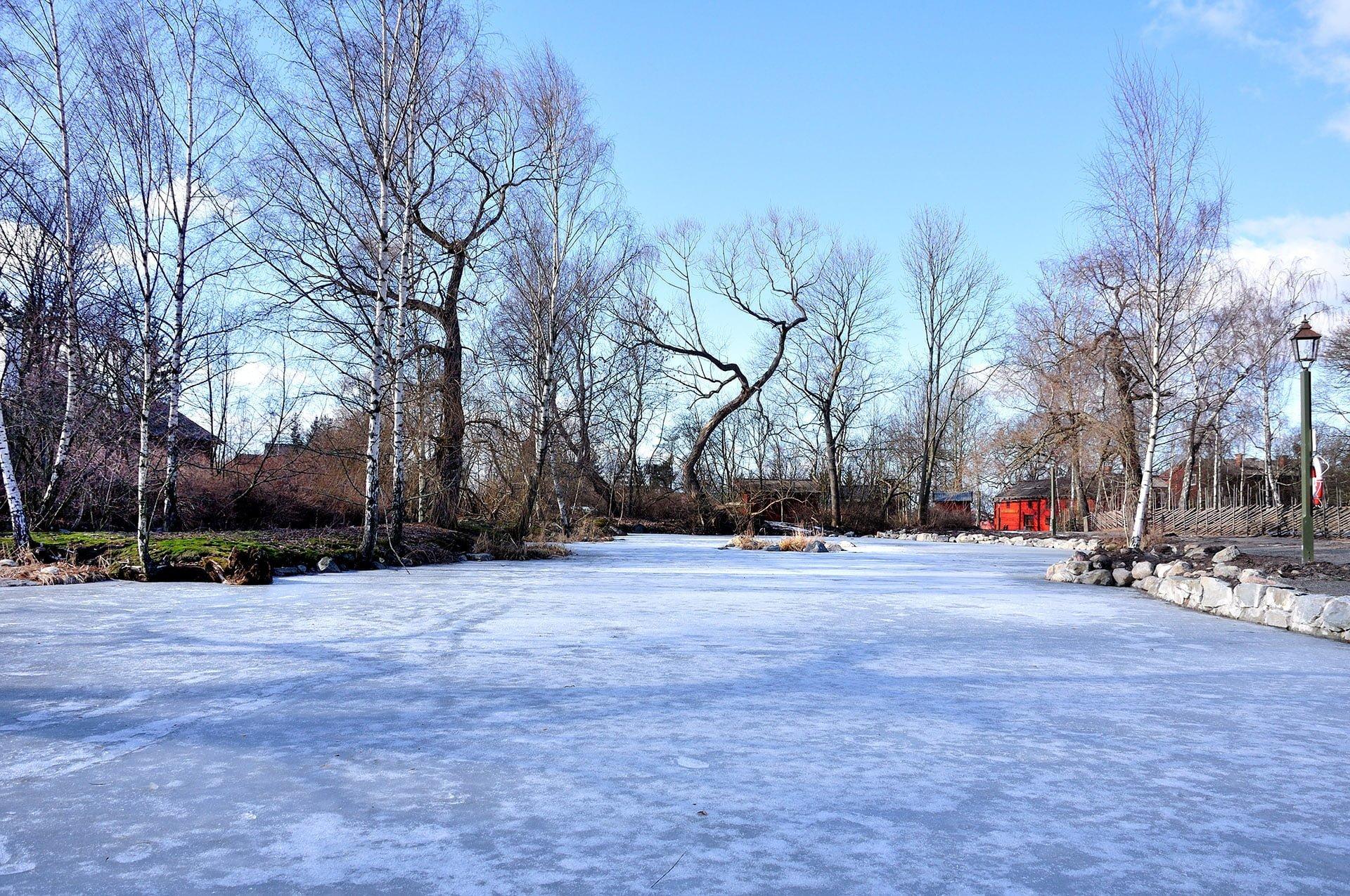 skansen donmuş göl