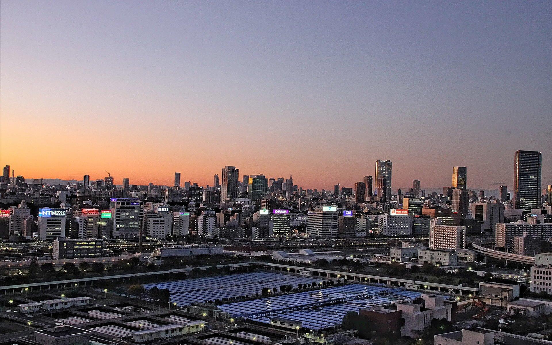 tokyo gökyüzü ve şehir