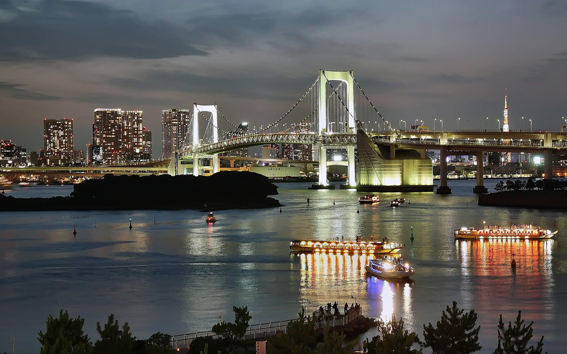 tokyo köprü ve gece