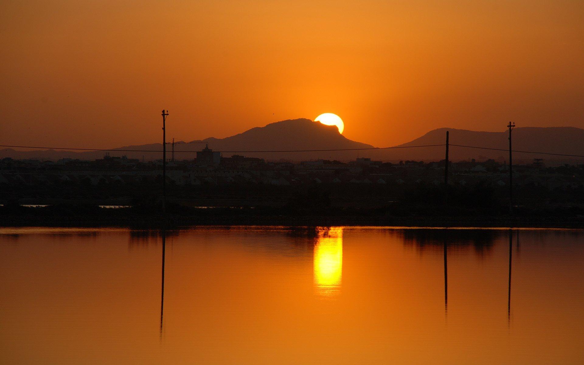 turuncu gün batımı