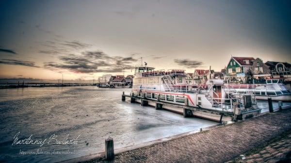 gün batımı ve tekne