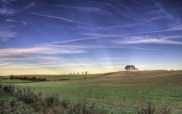 winchester bulutlar ve arazi