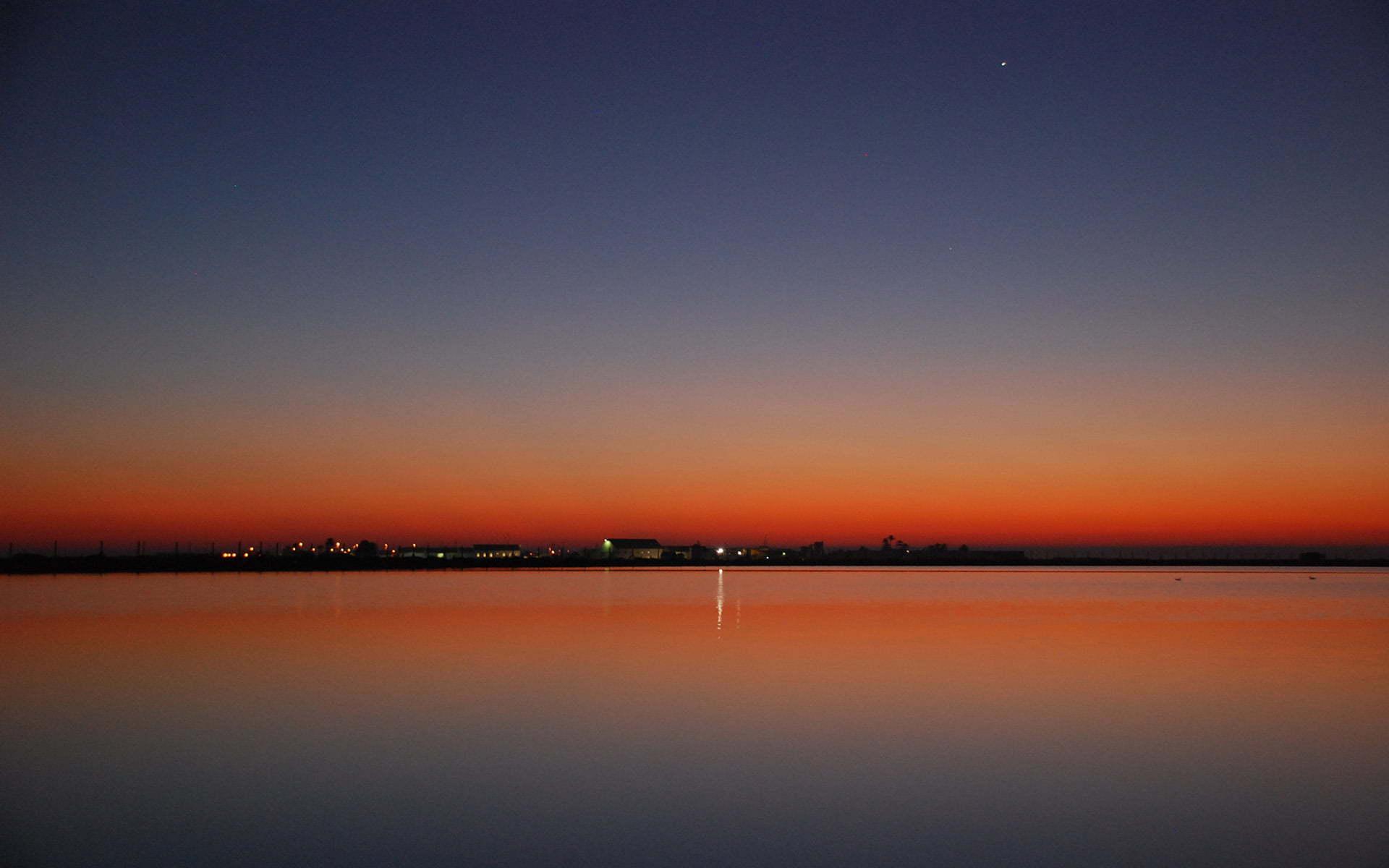 yıldızlı gün batımı
